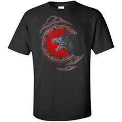 Viking, Norse, Gym t-shirt & apparel, Fenrir, FrontApparel[Heathen By Nature authentic Viking products]Tall Ultra Cotton T-ShirtBlackXLT