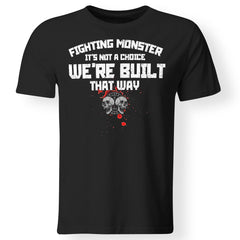 Viking, Norse, Gym t-shirt & apparel, Fighting Monster, FrontApparel[Heathen By Nature authentic Viking products]Premium Men T-ShirtBlackS