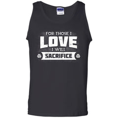 Viking, Norse, Gym t-shirt & apparel, For those I love I will sacrifice, FrontApparel[Heathen By Nature authentic Viking products]Cotton Tank TopBlackS