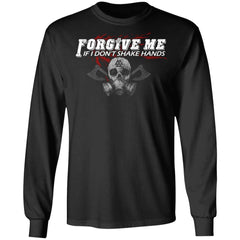 Viking, Norse, Gym t-shirt & apparel, Forgive me, FrontApparel[Heathen By Nature authentic Viking products]Long-Sleeve Ultra Cotton T-ShirtBlackS