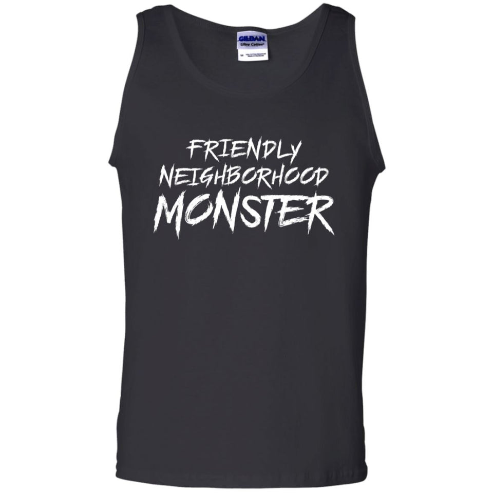 Viking, Norse, Gym t-shirt & apparel, Friendly neighborhood monster, frontApparel[Heathen By Nature authentic Viking products]Cotton Tank TopBlackS