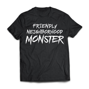 Viking, Norse, Gym t-shirt & apparel, Friendly neighborhood monster, frontApparel[Heathen By Nature authentic Viking products]Next Level Premium Short Sleeve T-ShirtBlackX-Small