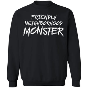 Viking, Norse, Gym t-shirt & apparel, Friendly neighborhood monster, frontApparel[Heathen By Nature authentic Viking products]Unisex Crewneck Pullover SweatshirtBlackS