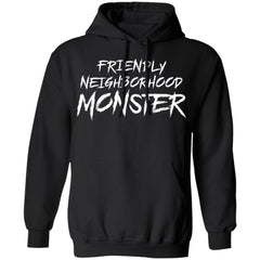 Viking, Norse, Gym t-shirt & apparel, Friendly neighborhood monster, frontApparel[Heathen By Nature authentic Viking products]Unisex Pullover HoodieBlackS