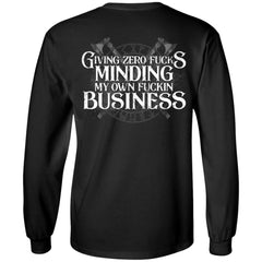 Viking, Norse, Gym t-shirt & apparel, Giving zero fucks minding my own, Double sidedApparel[Heathen By Nature authentic Viking products]