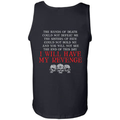 Viking, Norse, Gym t-shirt & apparel, Hands of death could not defeat me, backApparel[Heathen By Nature authentic Viking products]Cotton Tank TopBlackS