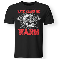 Viking, Norse, Gym t-shirt & apparel, Hate, Warm, frontApparel[Heathen By Nature authentic Viking products]Premium Men T-ShirtBlackS