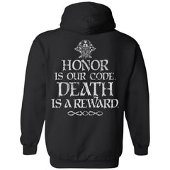 Viking, Norse, Gym t-shirt & apparel, honor, reward, backApparel[Heathen By Nature authentic Viking products]Unisex Pullover HoodieBlackS