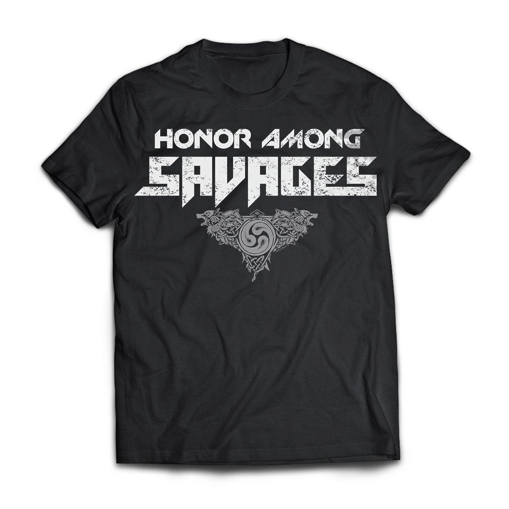 Viking, Norse, Gym t-shirt & apparel, honor, savages, frontApparel[Heathen By Nature authentic Viking products]Next Level Premium Short Sleeve T-ShirtBlackX-Small