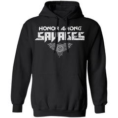 Viking, Norse, Gym t-shirt & apparel, honor, savages, frontApparel[Heathen By Nature authentic Viking products]Unisex Pullover HoodieBlackS