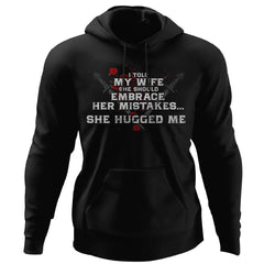 Viking, Norse, Gym t-shirt & apparel, Hugged Me, FrontApparel[Heathen By Nature authentic Viking products]Unisex Pullover HoodieBlackS