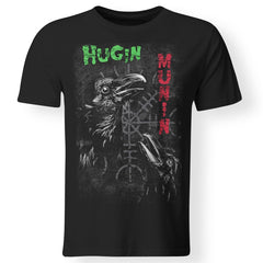Viking, Norse, Gym t-shirt & apparel, Hugin Munin, frontApparel[Heathen By Nature authentic Viking products]Premium Men T-ShirtBlackS