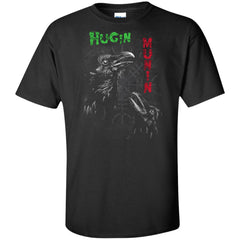 Viking, Norse, Gym t-shirt & apparel, Hugin Munin, frontApparel[Heathen By Nature authentic Viking products]Tall Ultra Cotton T-ShirtBlackXLT