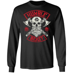 Viking, Norse, Gym t-shirt & apparel, Humble beast, FrontApparel[Heathen By Nature authentic Viking products]Long-Sleeve Ultra Cotton T-ShirtBlackS