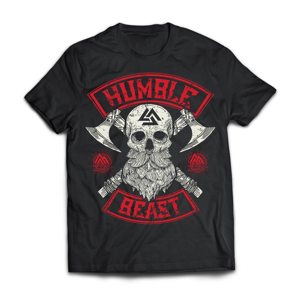 Viking, Norse, Gym t-shirt & apparel, Humble beast, FrontApparel[Heathen By Nature authentic Viking products]Next Level Premium Short Sleeve T-ShirtBlackX-Small