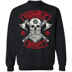 Viking, Norse, Gym t-shirt & apparel, Humble beast, FrontApparel[Heathen By Nature authentic Viking products]Unisex Crewneck Pullover SweatshirtBlackS