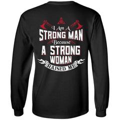 Viking, Norse, Gym t-shirt & apparel, I am a strong man, BackApparel[Heathen By Nature authentic Viking products]Long-Sleeve Ultra Cotton T-ShirtBlackS
