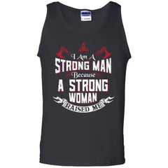 Viking, Norse, Gym t-shirt & apparel, I am a strong man, FrontApparel[Heathen By Nature authentic Viking products]Cotton Tank TopBlackS