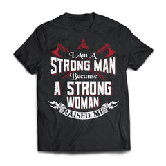 Viking, Norse, Gym t-shirt & apparel, I am a strong man, FrontApparel[Heathen By Nature authentic Viking products]Next Level Premium Short Sleeve T-ShirtBlackX-Small