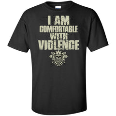 Viking, Norse, Gym t-shirt & apparel, I Am Comfortable With Violence, FrontApparel[Heathen By Nature authentic Viking products]Tall Ultra Cotton T-ShirtBlackXLT