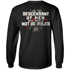Viking, Norse, Gym t-shirt & apparel, I am the descendant, BackApparel[Heathen By Nature authentic Viking products]Long-Sleeve Ultra Cotton T-ShirtBlackS