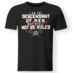 Viking, Norse, Gym t-shirt & apparel, I Am The Descendant, FrontApparel[Heathen By Nature authentic Viking products]Gildan Premium Men T-ShirtBlack5XL