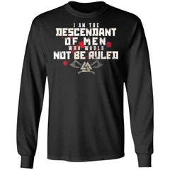 Viking, Norse, Gym t-shirt & apparel, I Am The Descendant, FrontApparel[Heathen By Nature authentic Viking products]Long-Sleeve Ultra Cotton T-ShirtBlackS