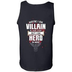 Viking, Norse, Gym t-shirt & apparel, I am Villain, BackApparel[Heathen By Nature authentic Viking products]Cotton Tank TopBlackS