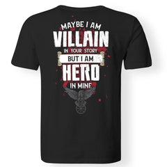Viking, Norse, Gym t-shirt & apparel, I am Villain, BackApparel[Heathen By Nature authentic Viking products]Gildan Premium Men T-ShirtBlack5XL