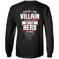 Viking, Norse, Gym t-shirt & apparel, I am Villain, BackApparel[Heathen By Nature authentic Viking products]Long-Sleeve Ultra Cotton T-ShirtBlackS