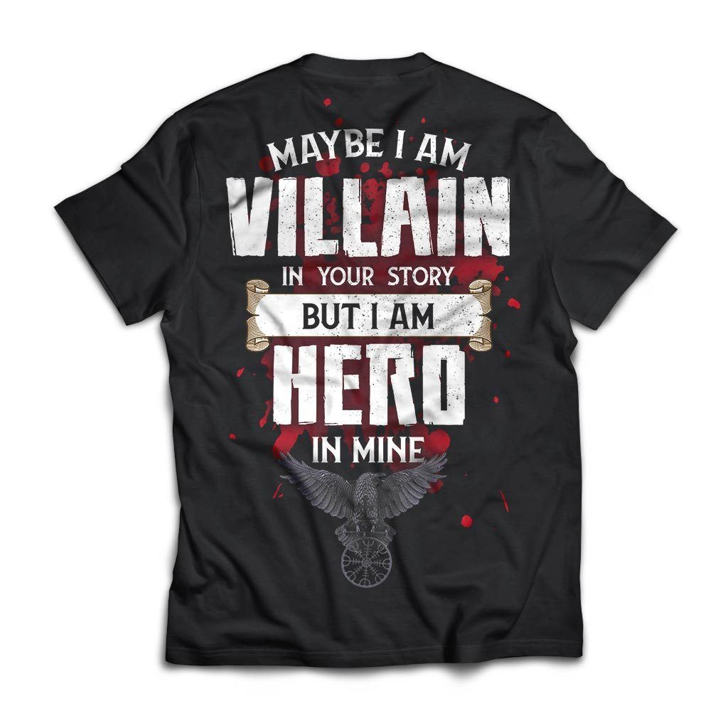 Viking, Norse, Gym t-shirt & apparel, I am Villain, BackApparel[Heathen By Nature authentic Viking products]Next Level Premium Short Sleeve T-ShirtBlackX-Small