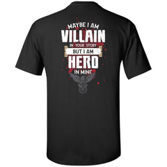 Viking, Norse, Gym t-shirt & apparel, I am Villain, BackApparel[Heathen By Nature authentic Viking products]Tall Ultra Cotton T-ShirtBlackXLT