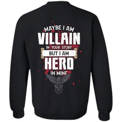 Viking, Norse, Gym t-shirt & apparel, I am Villain, BackApparel[Heathen By Nature authentic Viking products]Unisex Crewneck Pullover SweatshirtBlackS