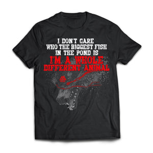 Viking, Norse, Gym t-shirt & apparel, I don't care who the biggest fish, frontApparel[Heathen By Nature authentic Viking products]Next Level Premium Short Sleeve T-ShirtBlackX-Small