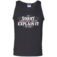 Viking, Norse, Gym t-shirt & apparel, I don't have time to explain it to you, FrontApparel[Heathen By Nature authentic Viking products]Cotton Tank TopBlackS