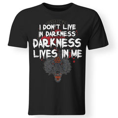 Viking, Norse, Gym t-shirt & apparel, I Don't Live In Darkness, BackApparel[Heathen By Nature authentic Viking products]Gildan Premium Men T-ShirtBlack5XL