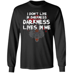 Viking, Norse, Gym t-shirt & apparel, I Don't Live In Darkness, BackApparel[Heathen By Nature authentic Viking products]Long-Sleeve Ultra Cotton T-ShirtBlackS