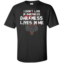 Viking, Norse, Gym t-shirt & apparel, I Don't Live In Darkness, BackApparel[Heathen By Nature authentic Viking products]Tall Ultra Cotton T-ShirtBlackXLT