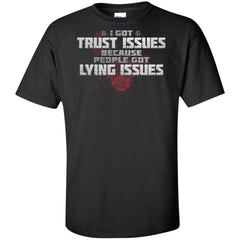 Viking, Norse, Gym t-shirt & apparel, I got trust issues, FrontApparel[Heathen By Nature authentic Viking products]Tall Ultra Cotton T-ShirtBlackXLT