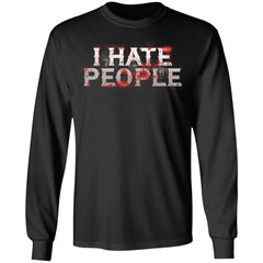 Viking, Norse, Gym t-shirt & apparel, I hate people, FrontApparel[Heathen By Nature authentic Viking products]Long-Sleeve Ultra Cotton T-ShirtBlackS