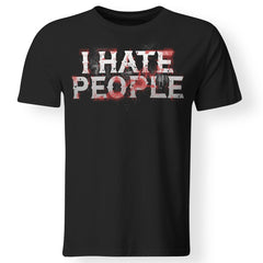 Viking, Norse, Gym t-shirt & apparel, I hate people, FrontApparel[Heathen By Nature authentic Viking products]Premium Men T-ShirtBlackS