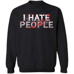 Viking, Norse, Gym t-shirt & apparel, I hate people, FrontApparel[Heathen By Nature authentic Viking products]Unisex Crewneck Pullover Sweatshirt 8 oz.BlackS