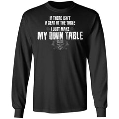 Viking, Norse, Gym t-shirt & apparel, I just make my own table, FrontApparel[Heathen By Nature authentic Viking products]Long-Sleeve Ultra Cotton T-ShirtBlackS