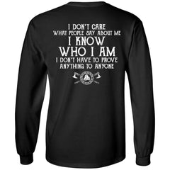Viking, Norse, Gym t-shirt & apparel, I know who I am, BackApparel[Heathen By Nature authentic Viking products]Long-Sleeve Ultra Cotton T-ShirtBlackS