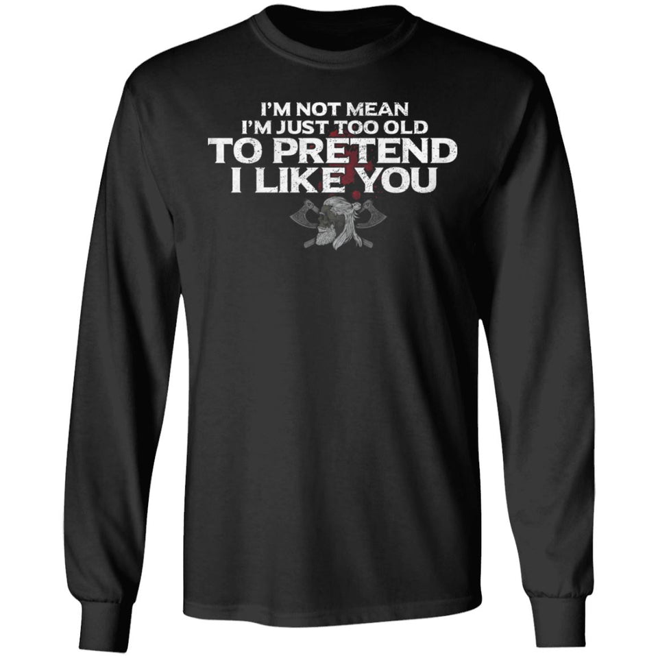 Viking, Norse, Gym t-shirt & apparel, I like you, FrontApparel[Heathen By Nature authentic Viking products]Long-Sleeve Ultra Cotton T-ShirtBlackS