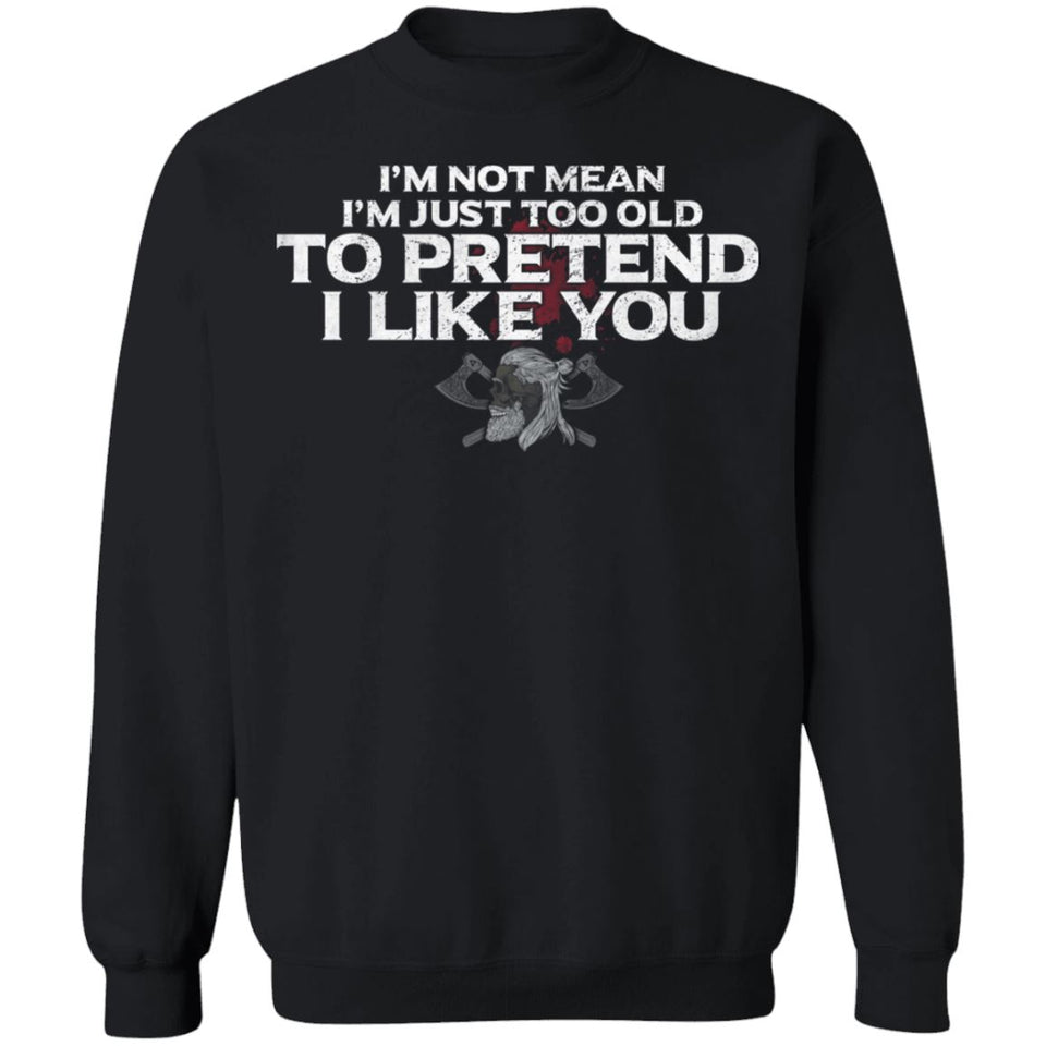Viking, Norse, Gym t-shirt & apparel, I like you, FrontApparel[Heathen By Nature authentic Viking products]Unisex Crewneck Pullover SweatshirtBlackS