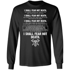 Viking, Norse, Gym t-shirt & apparel, I Shall Fear Not Death, FrontApparel[Heathen By Nature authentic Viking products]Long-Sleeve Ultra Cotton T-ShirtBlackS