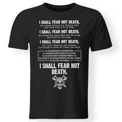 Viking, Norse, Gym t-shirt & apparel, I Shall Fear Not Death, FrontApparel[Heathen By Nature authentic Viking products]Premium Men T-ShirtBlackS