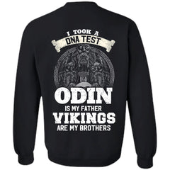 Viking, Norse, Gym t-shirt & apparel, I Took A DNA Test, BackApparel[Heathen By Nature authentic Viking products]Unisex Crewneck Pullover SweatshirtBlackS