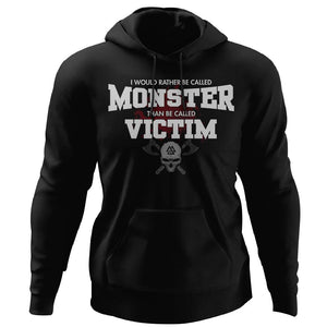 Viking, Norse, Gym t-shirt & apparel, I would rather be called monster, FrontApparel[Heathen By Nature authentic Viking products]Unisex Pullover HoodieBlackS
